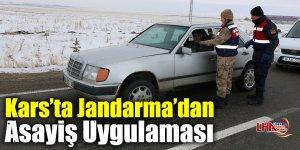 Kars'ta Jandarma'dan Asayiş Uygulaması