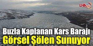 Buzla Kaplanan Kars Barajı Görsel Şölen Sunuyor