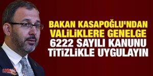 Bakan Kasapoğlu, 81 il valiliğine bir genelge gönderdi