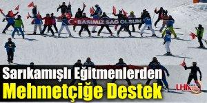Kayarken Türk Bayrağı Açan Sarıkamışlı Eğitmenlerden Mehmetçiğe Destek