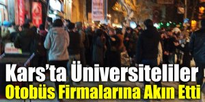Kars'ta Üniversiteliler Otobüs Firmalarına Akın Etti