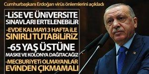 Cumhurbaşkanı Erdoğan korona virüs önlemlerini açıkladı!