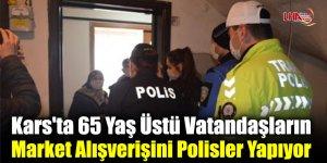 Kars'ta 65 Yaş Üstü Vatandaşların Market Alışverişini Polisler Yapıyor