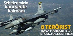 MSB açıkladı: '8 PKK'lı terörist etkisiz hale getirildi'