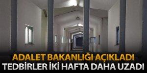 Ceza infaz kurumlarında Covid-19'a karşı alınan tedbirleri iki hafta uzattı