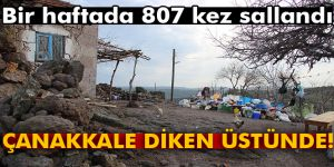 Çanakkale bir haftada 807 kez sallandı...   Çanakkale´de son depremler