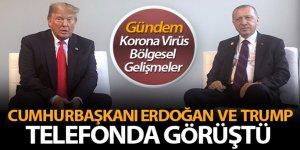 Cumhurbaşkanı Erdoğan, Trump'la telefonla görüştü