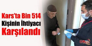 Kars'ta Bin 514 Kişinin İhtiyacı Karşılandı
