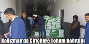 Kağızman'da Çiftçilere Tohum Dağıtıldı