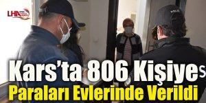 Kars'ta 806 Kişiye Paraları Evlerinde Verildi