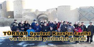 TÜRSAB üyeleri Kars'ın tarihi ve kültürel yerlerini gezdi