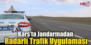 Kars'ta Jandarmadan Radarlı Trafik Uygulaması
