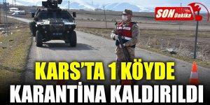 Kars'ta 1 Köyde Karantina Kaldırıldı
