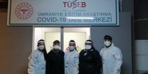 Korona virüs tanı merkezinin gönüllü savaşçıları ilk kez görüntülendi