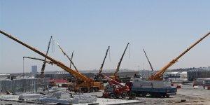 Atatürk Havalimanı pandemi hastanesinin inşaatı aralıksız sürüyor