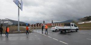 Karakurt HES Barajı su tutmaya başlayınca Sarıkamış-Horasan çevre yolu trafiğe kapandı