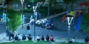 Başkent'te sokağa çıkma kısıtlamasına uymayıp parkta oyun oynadılar