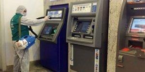 Temizlik hizmetlerinde hastane yakınlarındaki ATM'lere öncelik verildi