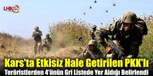Kars'ta Etkisiz Hale Getirilen PKK'lı Teröristlerden 4'ünün Gri Listede Yer Aldığı Belirlendi