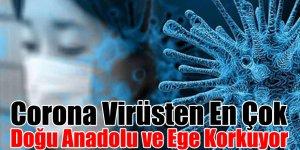 Corona Virüsten En Çok Doğu Anadolu ve Ege Korkuyor