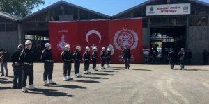 Kadıköy'deki feci kazada hayatını kaybeden itfaiye erleri için tören düzenlendi