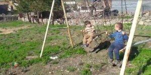 Sarıkamış'ta çocuklardan ilginç korona virüs diyaloğu