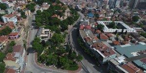 Bursa'da sessizlik havadan görüntülendi