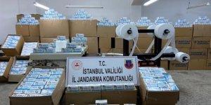 Sultangazi'de izinsiz üretilen 800 bin adet maske ele geçirildi