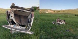 Kırşehir'de, hafif ticari araç şarampole devrildi: 5 yaralı