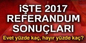 2017 referandum sonuçları Türkiye geneli!