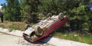 Pazarlar'da trafik kazası: 2 yaralı!