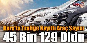 Kars'ta Trafiğe Kayıtlı Araç Sayısı 45 Bin 129 Oldu