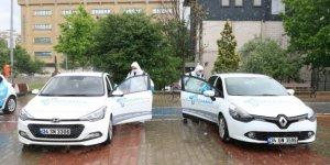 Sultangazi'de sürücü kursları ve araçları dezenfekte edildi