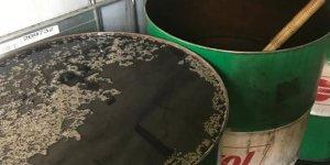 Atık yağları akaryakıt olarak satarken yakalandı