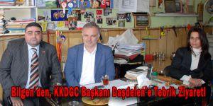 Bilgen'den, KKDGC Başkanı Daşdelen'e Tebrik Ziyareti