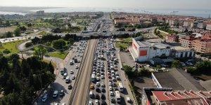 İstanbul'da trafik yoğunluğu havadan görüntülendi