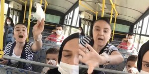 Otobüste maske takmayan kadına para cezası kesildi
