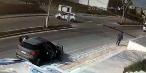 Takla atan araçtan burnu bile kanamadan çıktı!