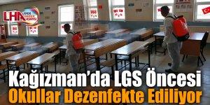 Kağızman'da LGS Öncesi Okullar Dezenfekte Ediliyor