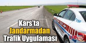 Kars'ta Jandarmadan Trafik Uygulaması