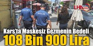 Kars'ta Maskesiz Gezmenin Bedeli 108 Bin 900 Lira