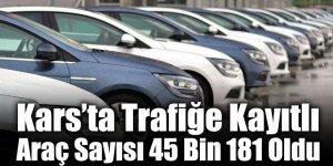 Kars'ta Trafiğe Kayıtlı Araç Sayısı 45 Bin 181 Oldu