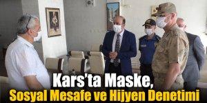 Kars'ta Maske, Sosyal Mesafe ve Hijyen Denetimi
