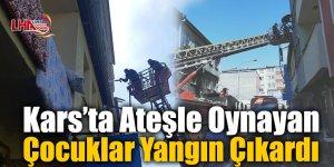 Kars'ta Ateşle Oynayan Çocuklar Yangın Çıkardı