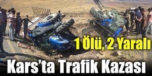 Kars'ta Trafik Kazası: 1 Ölü, 2 Yaralı