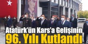 Atatürk'ün Kars'a Gelişinin 96. Yılı Kutlandı
