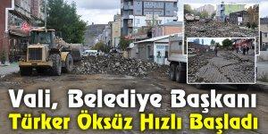 Vali, Belediye Başkanı Türker Öksüz Hızlı Başladı
