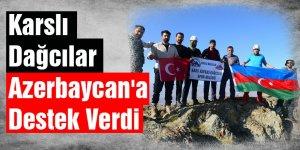 Karslı Dağcılar Azerbaycan'a Destek Verdi