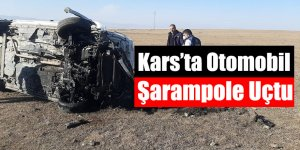Kars'ta Otomobil Şarampole Uçtu