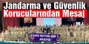 Kars'ta Jandarma ve Güvenlik Korucularından Mesaj